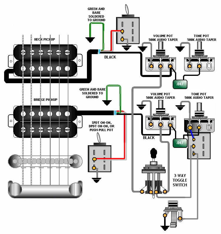 2hb_2vol_2tone_3way-w-splits-w-onoffsw  Humbucker No Tone Wiring Diagrams on